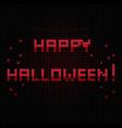 happy halloween halo vector image vector image