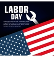 happy labor day poster icon vector image vector image