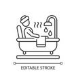hot tub linear icon vector image