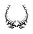 Laurel Wreath icon3 vector image vector image