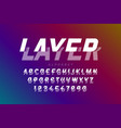 layered font vector image vector image