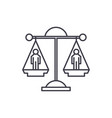 legal decision line icon concept legal decision vector image
