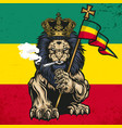 lion judah marijuana cannabis smoke rastafa vector image vector image