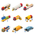 loading of goods set vector image vector image