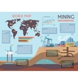 Mining Infographics Set vector image vector image