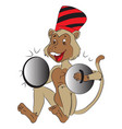 monkey with cymbals vector image vector image