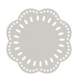 paper doily cake round napkin decorative vector image vector image