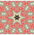 Pink Mandala Background for greeting card vector image vector image