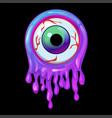 purple slime frame and eye icon with halloween vector image vector image