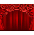 red curtains on red background6 vector image vector image