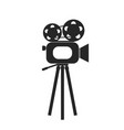 retro cinema film camera icon vector image