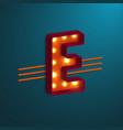 retro style letter e vector image
