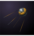 satellit first from ussr realistic cartoon vector image