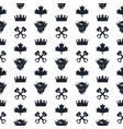 seamless pattern for biker racing vector image vector image
