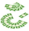 set isometric money isolated vector image vector image