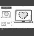 Social media line icon vector image vector image