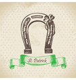 St Patricks Day vintage background vector image vector image