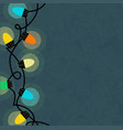 string retro glowing christmas lights template vector image