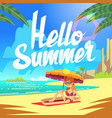 Summer holiday background with sea beach