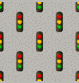 traffic light signal with red yellow and green vector image vector image