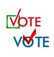 Voting Symbols template vector image