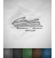 watercraft icon Hand drawn vector image vector image