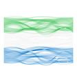 Wave line flag of Sierra Leone vector image vector image