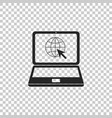 website on laptop screen icon isolated vector image vector image