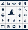 witch hat icon halloween set simple sign vector image