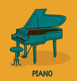 with grand piano vector image vector image