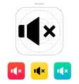 Speaker icon Volume mute vector image