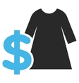 Dress Price Flat Pictogram vector image