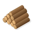 Stack of firewood vector image