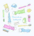 accessories for dental hygiene vector image