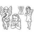Angel Set vector image vector image