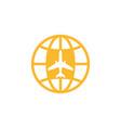 aviation logo design vector image