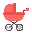 baby carriage flat icon pram and pushchair vector image