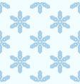 background with blue frosty snowflakes vector image vector image