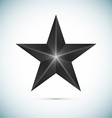 Black Star Isolated on white background vector image vector image