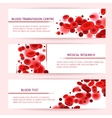 Blood cells Medical banners set vector image vector image