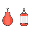 boxing and punching bag vector image