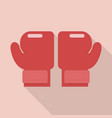 boxing gloves in flat style vector image vector image