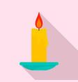 burning candle icon flat style vector image