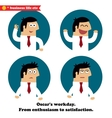 Business emotions icons set vector image vector image
