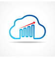 business growth graph design with cloud design vector image