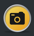 camera dark badge vector image