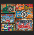 car service and repair wrecker order and fuel 24 h vector image vector image