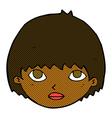 comic cartoon girl staring vector image vector image