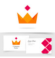 crown king royal icon logo or premium vector image vector image