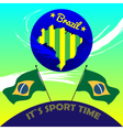 Digital brasil it is sport time vector image vector image